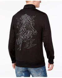 Guess - Keith Tiger Embroidered Full-zip Track Jacket - Lyst
