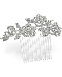 Charter Club Silver-tone Crystal Flower Hair Comb, Created For Macy's - Metallic