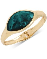 Robert Lee Morris - Gold-tone & Patina Bangle Bracelet - Lyst