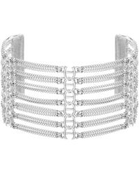 Steve Madden Layered Bar Cuff Bracelet - Metallic