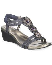 Bandolino - Harman Embellished Wedge Sandals - Lyst