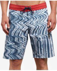 """Volcom - Lo Fi Stoney Stretch 19"""" Board Shorts - Lyst"""