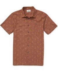 Billabong Sundays Jacquard Short Sleeve Shirt - Brown