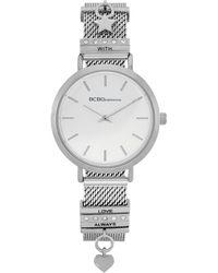 BCBGeneration Ladies 2 Hands Slim Silver-tone Mesh Watch, 34 Mm Case - Metallic