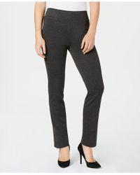 Kasper - Ponté-knit Pull-on Pants - Lyst