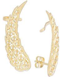 Macy's - Cutout Angel Wing Crawler Earrings In 14k Gold - Lyst