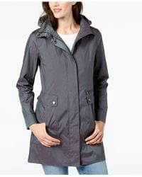 Cole Haan - Signature Packable Hooded Raincoat - Lyst
