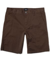 RVCA Men's Weekend Stretch Shor - Brown