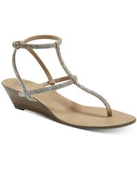 INC International Concepts Inc Madge Strappy Wedge Sandals, Created For Macy's - Multicolour