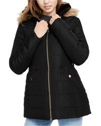 Celebrity Pink - Juniors' Faux-fur Trim Hooded Puffer Coat - Lyst
