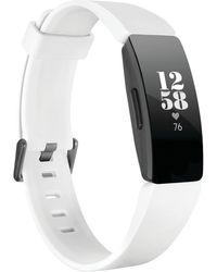 Fitbit - Inspire Hr White Strap Activity Tracker 16.4mm - Lyst