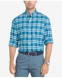Izod - Men's Newport Oxford Plaid Shirt - Lyst