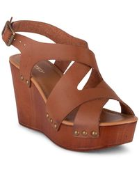 Wanted Strappy Wedge Sandal - Brown