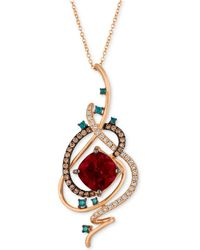 "Le Vian - Exotics® Crazy Collection® Pomegranate Garnettm (4-1/2 Ct. T.w.) & Diamond (3/4 Ct. T.w.) 18"" Pendant Necklace In 14k Rose Gold - Lyst"