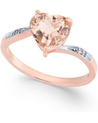 Macy's - Morganite (1-3/4 Ct. T.w.) & Diamond Accent Ring In 14k Rose Gold - Lyst