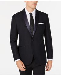 Kenneth Cole Reaction Slim-fit Tonal Houndstooth Dinner Jacket, Online Only - Blue