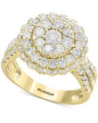Effy Collection Rock Candy By Effy® Diamond Halo Cluster Ring (1-1/3 Ct. T.w.) In 14k White Gold - Metallic