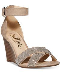 Callisto - Montana Crisscross Wedge Sandals, A Macy's Exclusive Style - Lyst