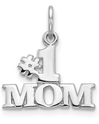 Macy's #1 Mom Charm In 14k White Gold