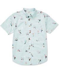 Billabong Sundays Mini Short Sleeve Woven Shirt - Blue