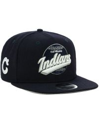 f1dd0b632c189 Lyst - Ktz Cleveland Indians All American Patch 9fifty Snapback Cap ...