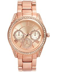 INC International Concepts Rose Gold-tone Bracelet Watch 41mm, Created For Macy's - Metallic