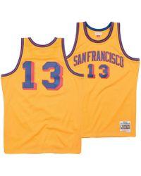 7749695c6 Mitchell   Ness - Wilt Chamberlain San Francisco Warriors Hardwood Classic Swingman  Jersey - Lyst