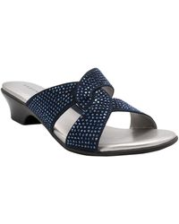 Karen Scott Enoree Flat Sandals, Created For Macy's - Blue