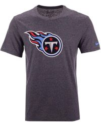 Nike - Tennessee Titans Dri-fit Cotton Essential Logo T-shirt - Lyst bcd2e3aea