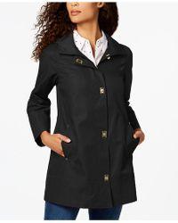 Jones New York - Turnkey Hooded Raincoat - Lyst