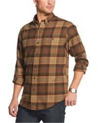 G.H.BASS Fireside Classic-fit Plaid Flannel Shirt - Brown
