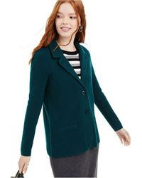Charter Club Pure Cashmere Blazer, Created For Macy's - Blue