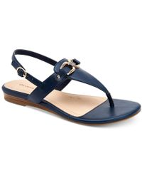 Charter Club Ondreaa Thong Flat Sandals, Created For Macy's - Blue