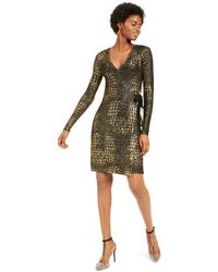 INC International Concepts Inc Metallic-print Sweater Dress, Created For Macy's