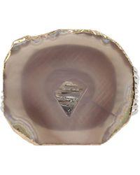 Robert Lee Morris Agate Stone Multi-row Cuff Bracelet - Gray