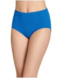 Jockey Cotton Stretch Brief 1556, Created For Macy's, Also Available In Extended Sizes - Blue