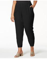 Eileen Fisher - Plus Size System Silk Pull-on Pants - Lyst