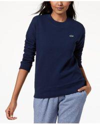 Lacoste - Fleece Waffle-knit Sweatshirt - Lyst
