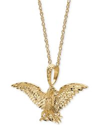 """Macy's - Eagle 24"""" Pendant Necklace In 10k Gold - Lyst"""