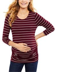 Jessica Simpson Maternity Ruched Top - Red