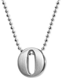 Alex Woo - Initial Pendant Necklace In Sterling Silver - Lyst