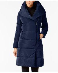 Cole Haan | Asymmetrical Pillow-collar Puffer Coat | Lyst