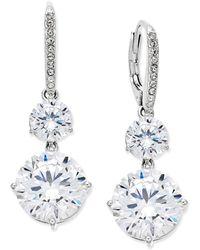 Danori - Silver-tone Crystal Double Drop Earrings - Lyst