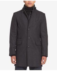 Sean John - Wool Coat With Bib - Lyst