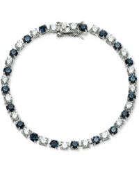 Carolee | Silver-tone Stone & Crystal Link Bracelet | Lyst
