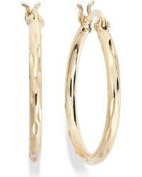 Giani Bernini Diamond-cut Hoop Earrings In 18k Gold Over Sterling Silver - Metallic