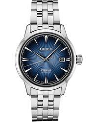 Seiko Automatic Presage Stainless Steel Bracelet Watch 40.5mm - Metallic