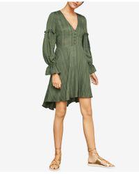 BCBGMAXAZRIA - Textured High-low Dress - Lyst