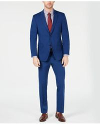 Tommy Hilfiger Modern-fit Thflex Stretch Blue Neat Tic Suit