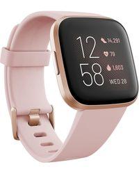 Fitbit Versa 2 Rose Elastomer Strap Touchscreen Smart Watch 39mm - Pink